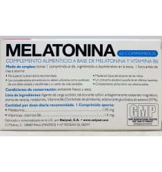 MELATONINA, 60 COMP, NATYSAL